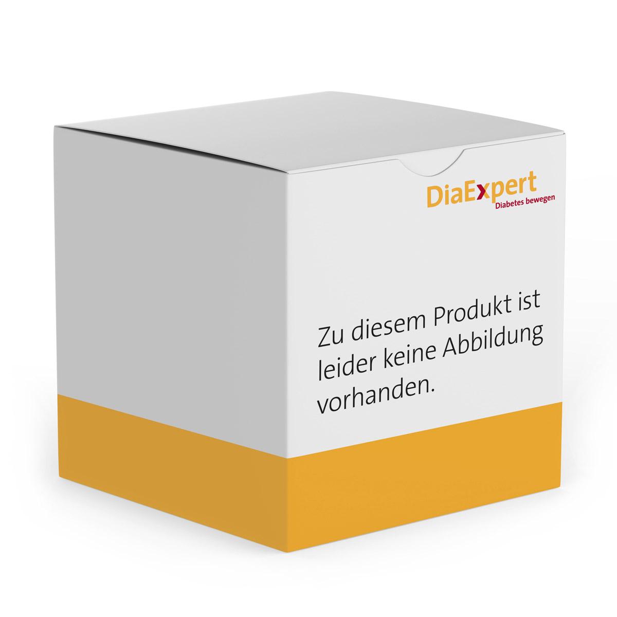 SOS-Silikonarmband Diabetes schwarz 22 cm