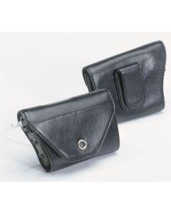Leder-Schutzhülle mit Clip schwarz 1 Stück für Accu-Chek Spirit / Spirit Combo