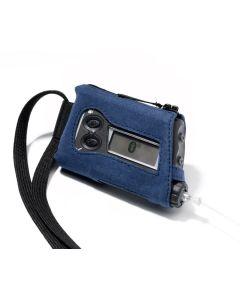 Alcantara-Schutzhülle blau 1 Stück für Accu-Chek Spirit / Spirit Combo
