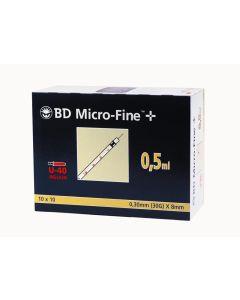 Micro-Fine für U40 Insulin 0,5 ml 8,0mm x 0,30mm