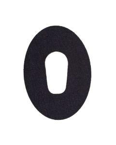 Dexcom G6 Fixtape Oval mit Loch schwarz