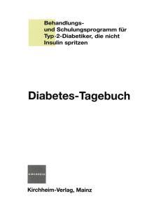 Kirchheim Diabetes-Tagebuch für Typ-2-Diabetiker ohne Insulin