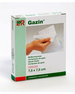 Gazin Mullkompresse steril 7,5 x 7,5 cm