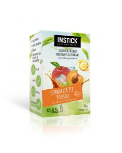 InStick Schwarzer Tee Pfirsich 12 x 3g