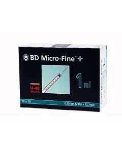 Micro-Fine für U40 Insulin 1,0 ml 12,7mm x 0,33mm