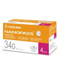 Nanopass Kanüle 34 G x 4 mm 100 Stück