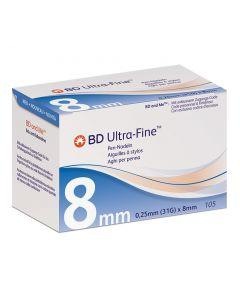 BD Ultra-Fine 0,25 x 8mm 105 Stück