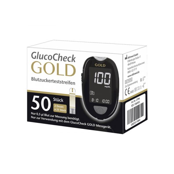 GlucoCheck Gold Teststreifen