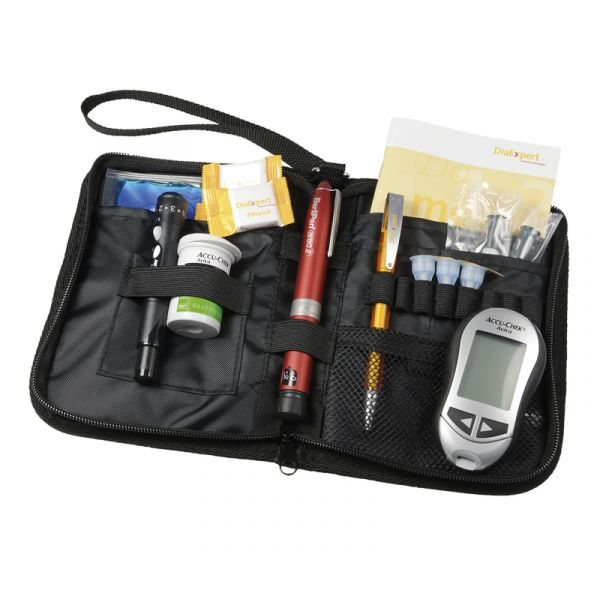 Raumwunder-Tasche schwarz für Diabeteszubehör