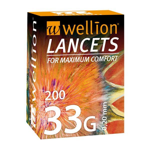 Wellion Lanzetten 33 G 200 Stück