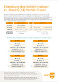 Omnipod DASH: Umrechnung von KE Faktor zu KI-Verhältnis