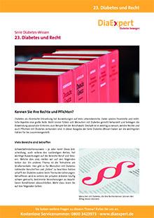 23. Diabetes und Recht