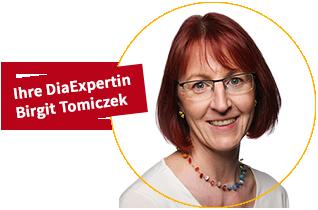 Ihre DiaExpertin Birgit Tomiczek
